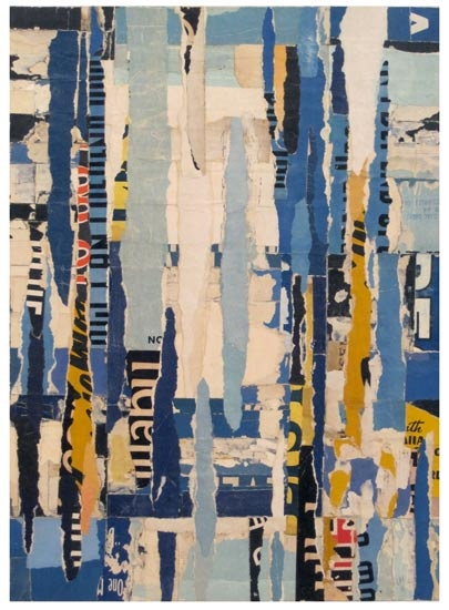 """Parts of Speech 2,"" collage by Lisa Hochstein, made of salvaged paper"