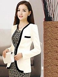 Women's Fashion Casual Black-white Patchwork Slim... – USD $ 26.39