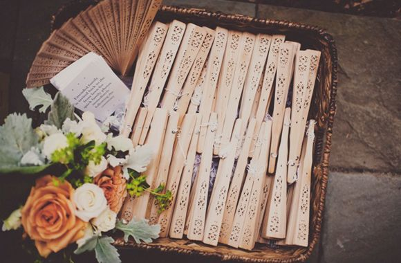 Elizabeth + Alex - Southern Weddings- very thoughtful detail for guests to keep cool!