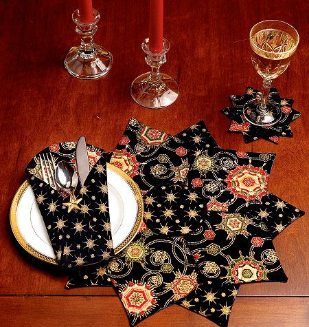 K0123, Placemat, Coaster  and Silverware Case