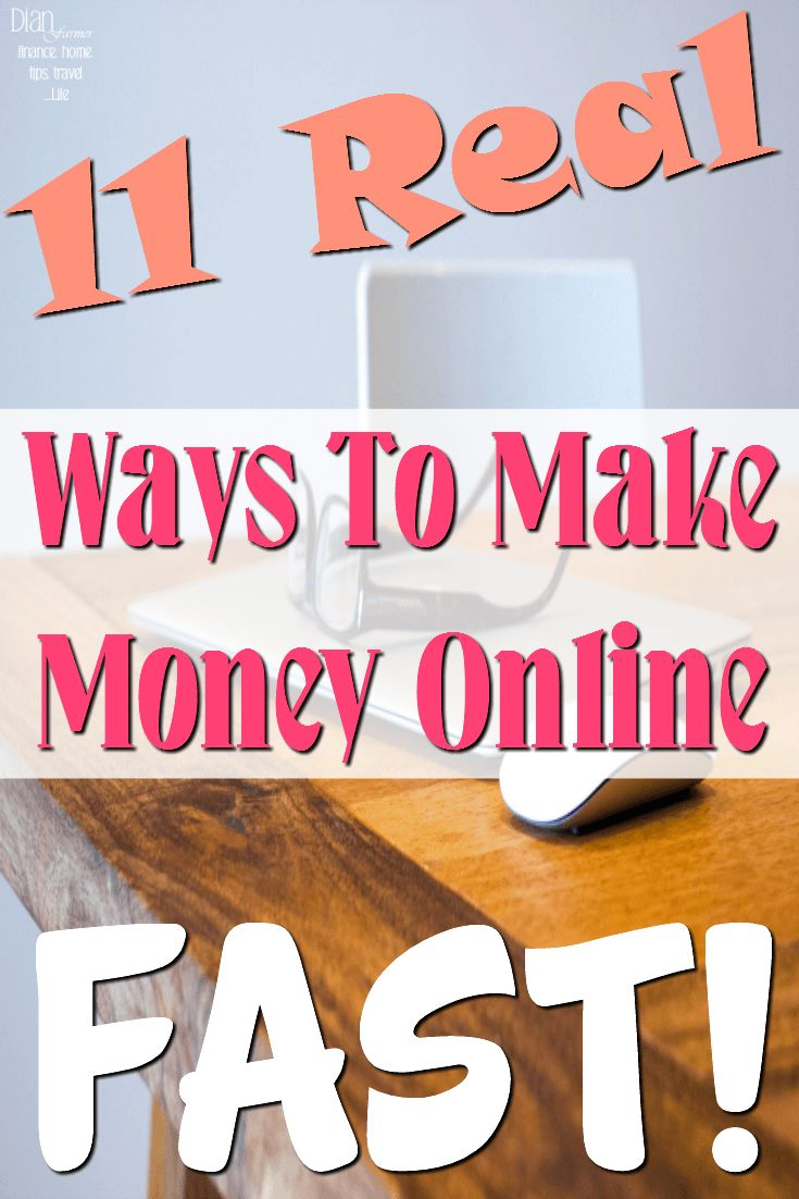 If you're looking for fast ways to make money, or online money making tips, this is for you! We have the top 11 real ways to make money online fast.