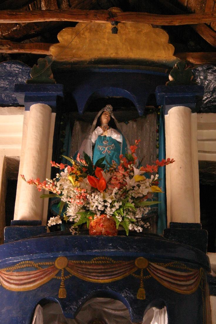 Virgen María, interior Iglesia de San Pedro de Atacama / Virgin Mary, inside San Pedro de Atacama Church, II región, Chile.