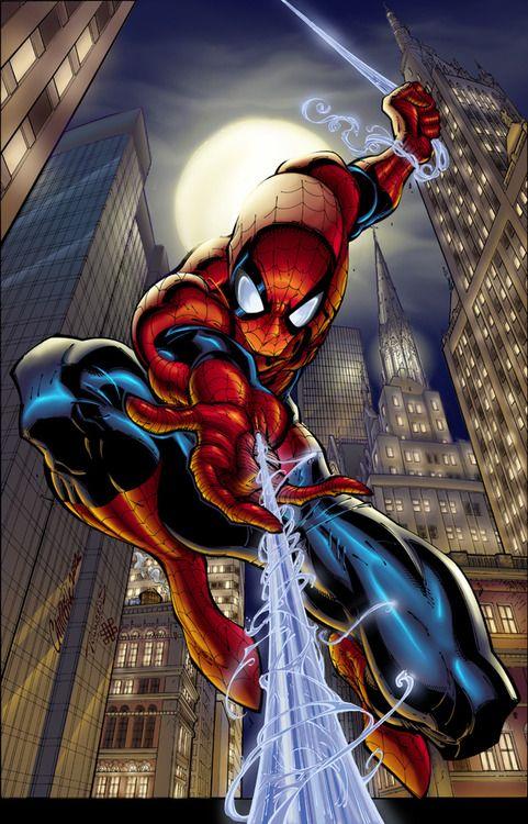 The Amazing Spider-Man // artwork by J. Scott Campbell and Rick Hiltbruner (2004)