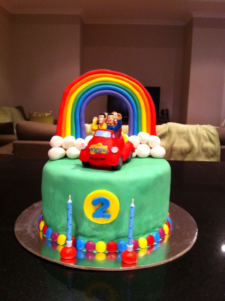 Wiggles cake for Lucas' 2nd birthday- Wiggles theme birthday party- image only
