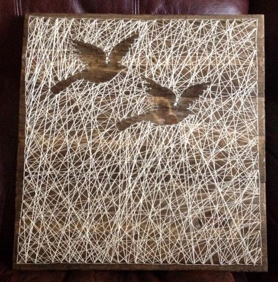 Beautiful reverse string art