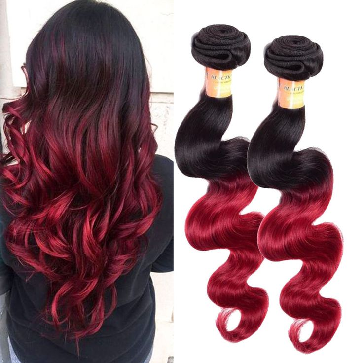 100% Brazilian Ombre Human Hair Extension Body Wave Hair Weft 1B/Burg# 100g #Ombr