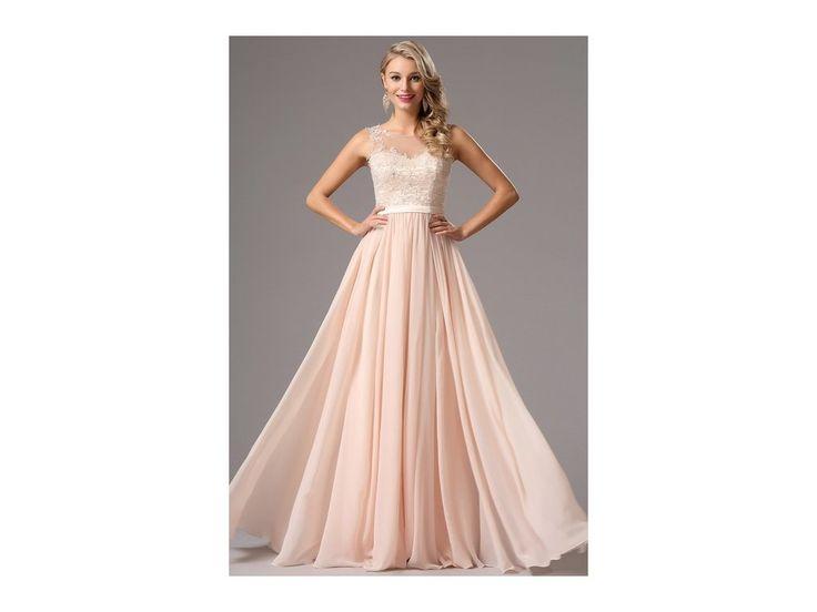 Romantické plesové šaty šaty s nádechem růžového tónu živůtek zdoben výšivkou všitá podprsenku zip na zadní straně délka šatů 155 cm (od ramene k přednímu lemu)