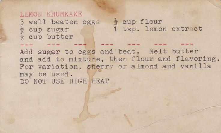 Musings of MidwestAncesTree: Family Recipe Friday: Lemon Krumkake #genealogy #familyhistory