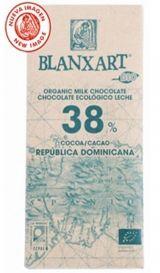Blanxart 100g. Ciocolata organica cu lapte, 38% cacao R.Dominicana. BIO