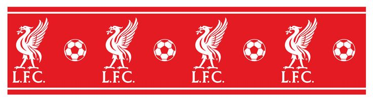 Liverpool FC Self Adhesive Wallpaper Border 5m  LFC  5 metres (16.4 feet) long 15 cm (6 in) high Features the world famous Liverpool FC Crest
