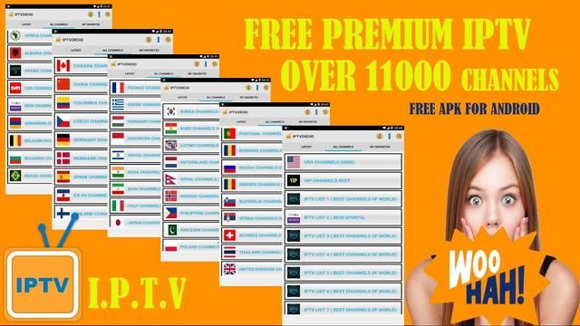 Iptv : New Free Apk Live TV to Watch Over 11000 Channels + Premium