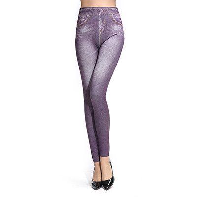 Imitative Jeans Women Leggings Fitness Sexy Legging Elastic Workout Leggins Stretch Pencil Pants