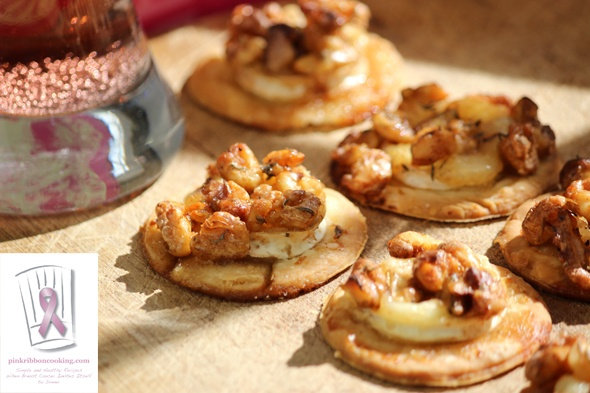 Skinny Baked Brie Phyllo Cups With Craisins And Walnuts ...