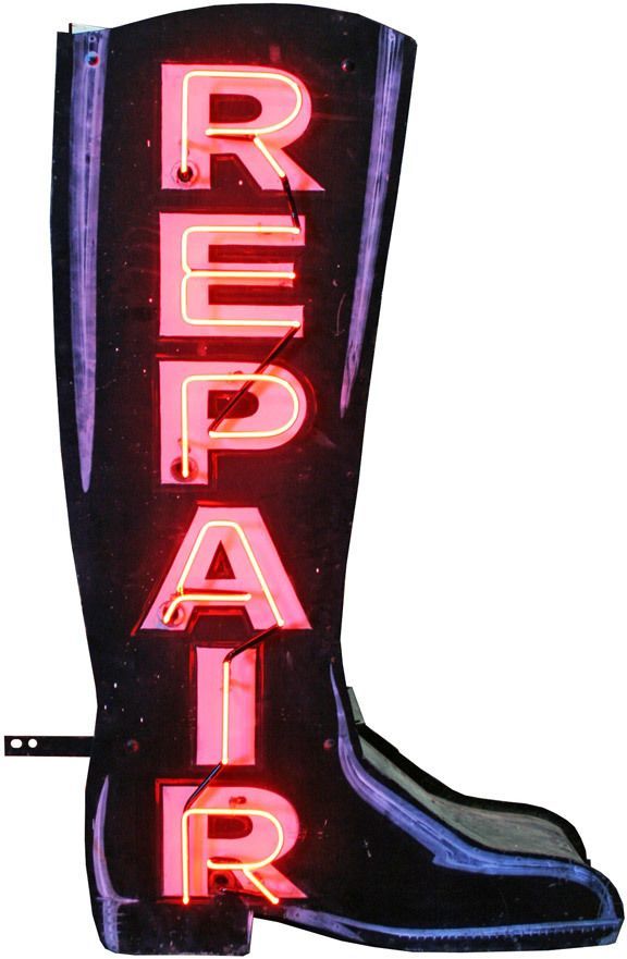 Magnificent Double-Sided Neon Boot Repair Sign https://api.shopstyle.com/action/apiVisitRetailer?id=530966099&pid=uid8100-34415590-43