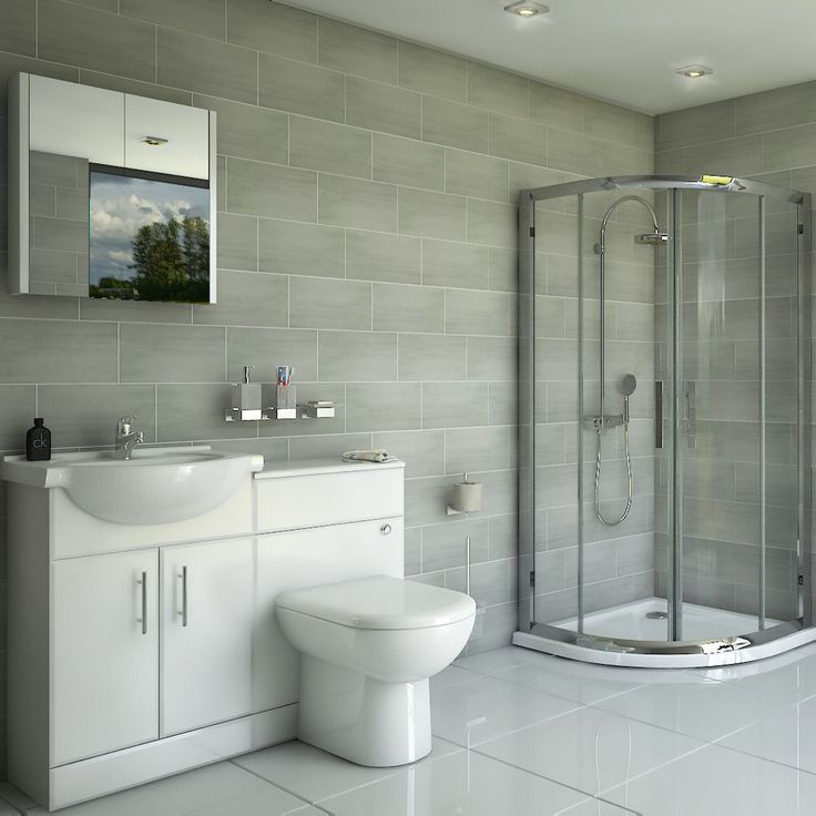 Mayford Quadrant Shower Enclosure Suite with Pearlstone Tray - 800mm