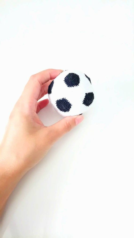 Crochet Football Version Keyring Or Gri Gri For Car Gift