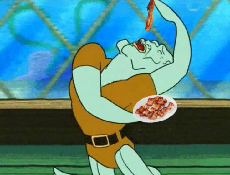 Handsome Squidward really likes bacon | Love being weird ... Spongebob Characters Squidward