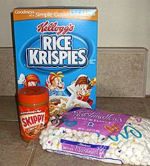How to make the best Peanut Butter Rice Krispie Treats! Could make with gluten free Rice Krispies! :)