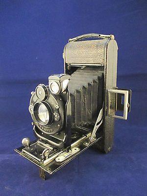 1920's Zeiss Ikon Icarette Folding Vintage Camera, Ica Dresden, 10.5 Compur Lens