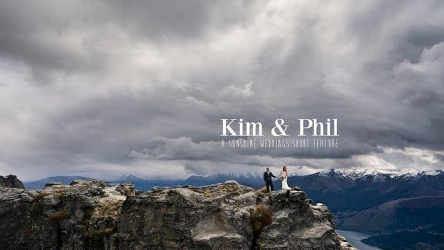 Kim and Phil's mountaintop elopement wedding in Queenstown, New Zealand. Film and photography by Sunshine Weddings www.sunshineweddings.co.nz