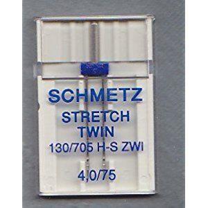 Schmetz macchina da cucire ago doppio ago 4,0x 75Stretch