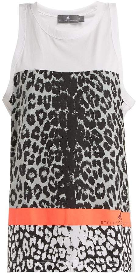 3303e8d152af ADIDAS BY STELLA MCCARTNEY Leopard-print performance tank top ...
