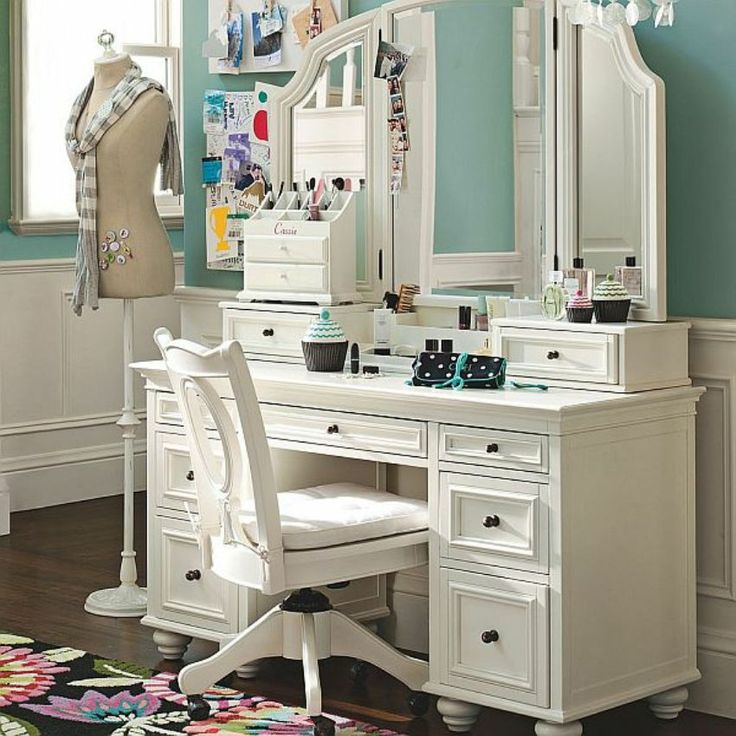 White Chabby Chic Furniture Vanity Table