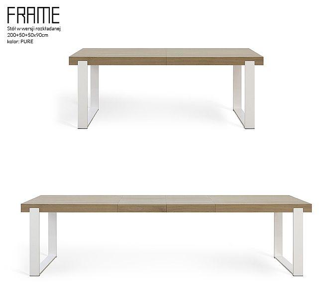 FRAME dining table folded + unfolded - www.miloni.pl/en MILONI: wooden table, oak table, natural wood table, table design, furniture design, modern table