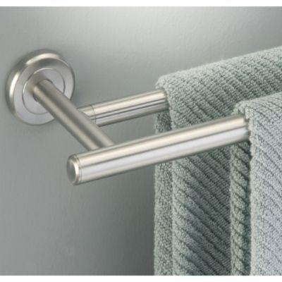 bathroom brushed nickel bath towel rack spa style towel. Black Bedroom Furniture Sets. Home Design Ideas