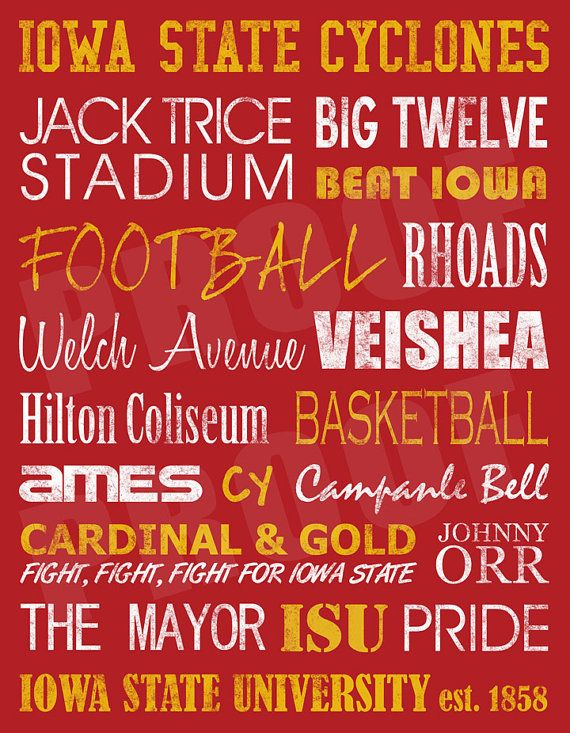 28. Iowa State Cyclone Subway Art by JessPoutreDesigns on Etsy #cyclonefbscavengerhunt