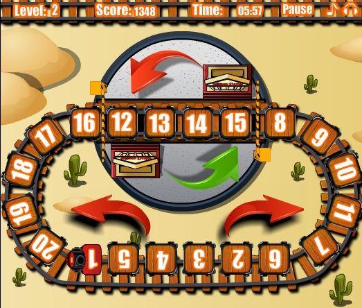 """Joaca """"aranjeaza vagoanele"""" gratis la linkul http://jocuricutrenuri.eu/puzzle-cu-trenuri/aranjeaza-vagoanele/"""