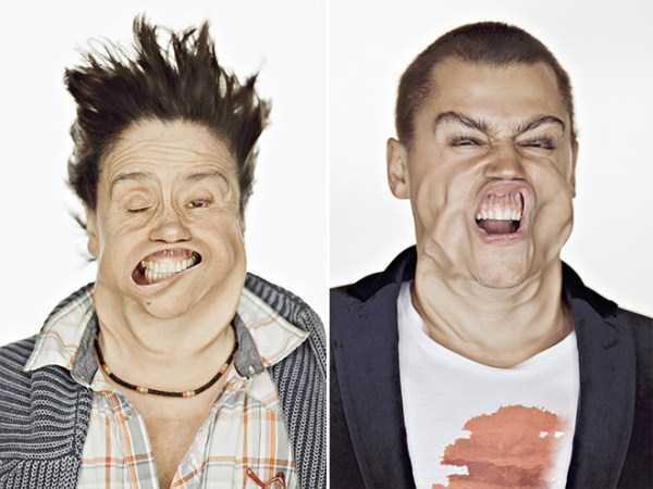 Hilariously Distorted Portraits Taken in a Wind Tunnel (15 photos)