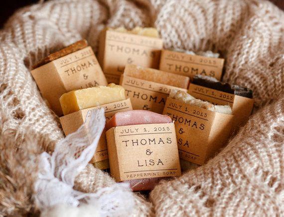 100 WEDDING FAVOR savon  mariage faveurs de savon par RusticJoySoap