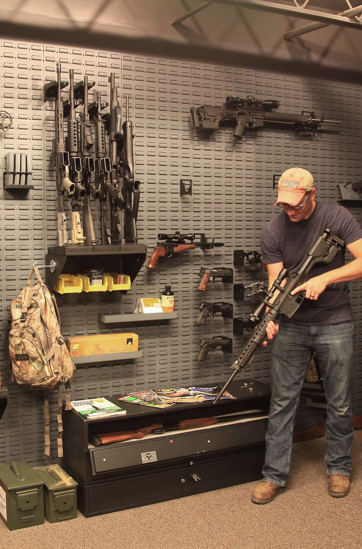 902 best images about office room and work shop on for Gun safe room ideas