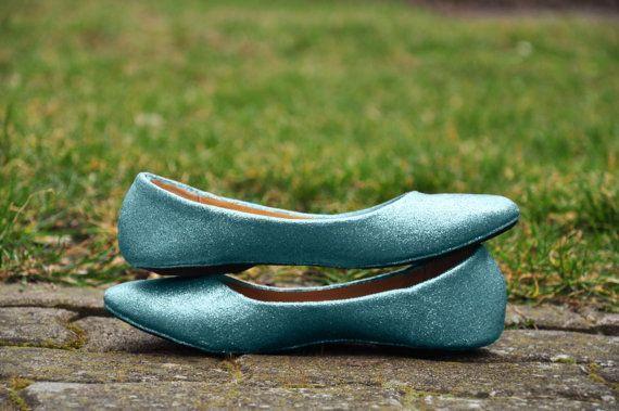 Bridal shoes Blue bridal shoes Blue wedding flats by RagzDagzTM
