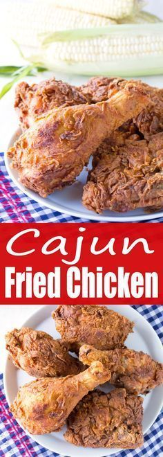 A cajun blend of spices makes up the coating on this moist and juicy Cajun Fried Chicken. Learn to fry chicken to perfection.
