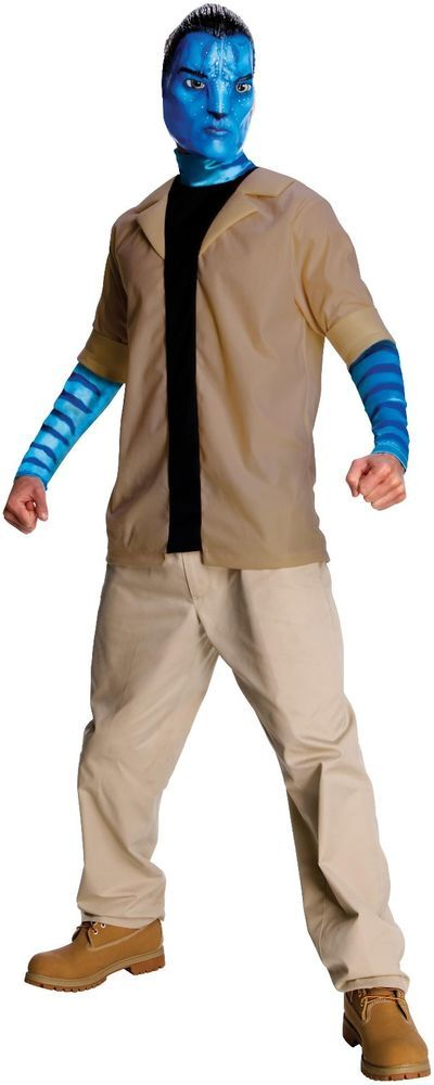 New Avatar Movie Jake Sully Adult  Mens Halloween Costume Size:  X - Large