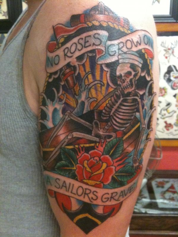 17 best images about tattoos on pinterest ship tattoos for Sailors grave tattoo gallery