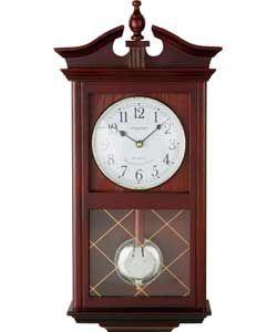 Living Constant Dark Oak Regulator Pendulum Wall Clock.