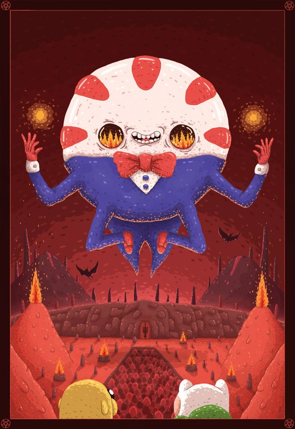 Adventure Time Tribute em Ilustração Servido