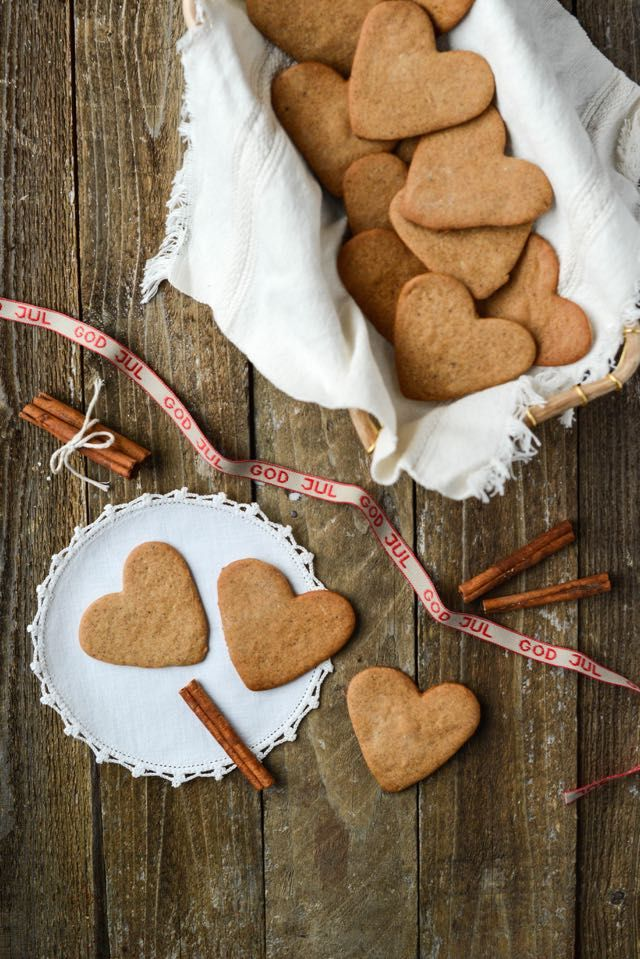 Pepperkaker--essentially Norwegian gingersnaps, these spiced cookies are a beloved Christmas tradition.