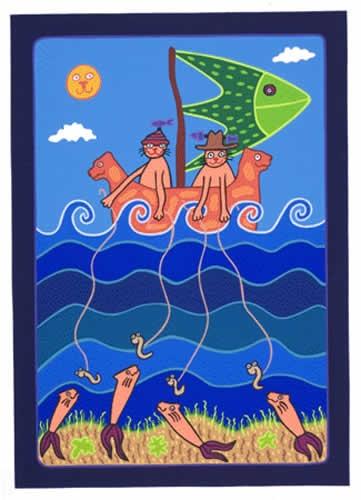 Sally Morgan's - 'Something Fishy' - Screenprint - ARC182 - Aboriginal and Torres Strait Islander Art Prints