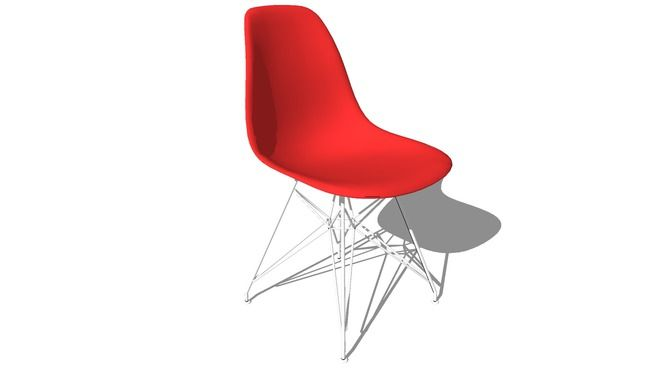 Herman Miller Eames Molded Chair - Wire Base - 3D Warehouse