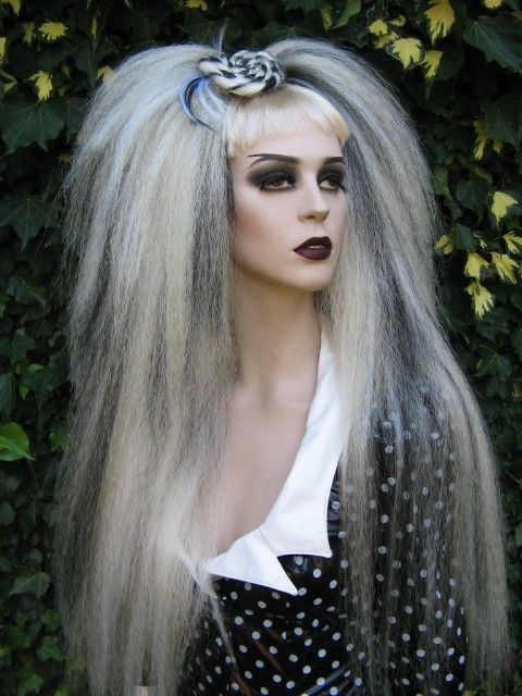 gothic hair punk style