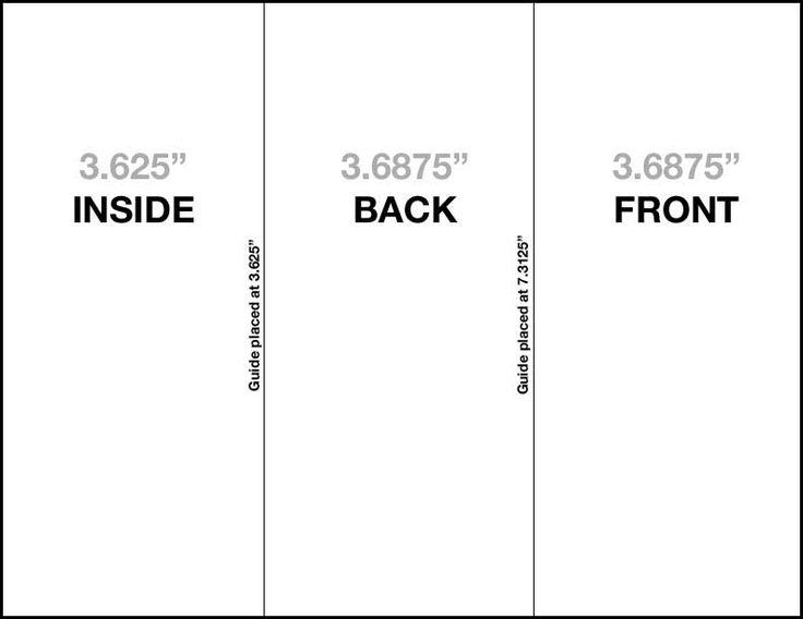 How to setup a trifold brochure - Robert Lane