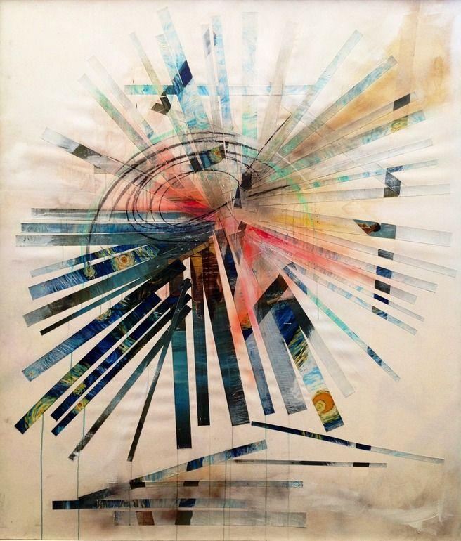 "Saatchi Online Artist: Aimee Joaristi; Painting, Assemblage / Collage ""Broken Sun"""