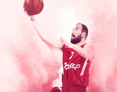 """Check out new work on my @Behance portfolio: """"Olympiacos Basketball Legends"""" http://on.be.net/1Ilgd5U"""