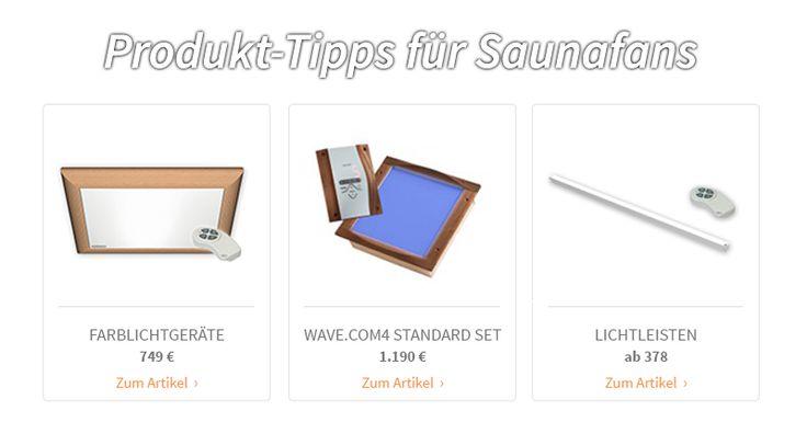 Produkt-Tipps für Saunafans
