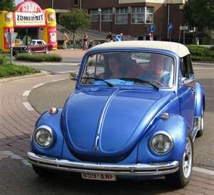 My first car looked just like this!! Electric blue w/ a white convertible top. I want her back soooo bad! Someday...