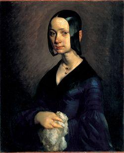 ジャン=フランソワ・ミレー「ポーリーヌ・V・オノの肖像」(c.1841-42)